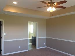 I Like The Tray Ceiling And Two Tone Walls With Chair Rail To .