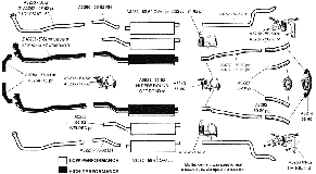 performance exhaust systems diagram performance database a exhaust 01 aluminized system