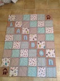 Statue of Baby Boy Quilt Patterns Ideas | Bathroom Design ... & Baby boy rag quilt blue brown animals design by creesher on Etsy, Adamdwight.com