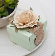 light green wedding favors candy box with ivory flowers candy box wedding fabor diy party favor box wedding favor candy box