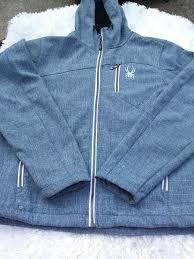 Spyder Mens Size Medium Hooded Zipper Jacket Ca 52645