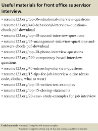 Front Office Resume Amazing Top 48 Front Office Supervisor Resume Samples