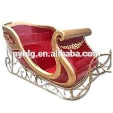 huge new custom fiberglass sleigh decoration santa plastic reindeer outdoor