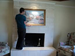 tile over brick fireplace french