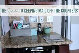 kitchen office organization. The Secret To Keeping Mail Off Counters Via Clean Mama Kitchen Office Organization R