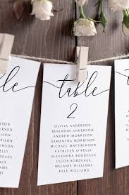 Elegant Wedding Seating Chart Template Calligraphy Seating