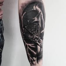 рисунок спартанца на предплечье парня фото рисунки эскизы