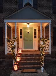 i think my favorite things are the wreaths in every window they look just as fun from the inside looking out or the lighted garland around the portico