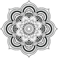 Simple Flower Coloring Pages Mandala Coloring Pages Kids Simple