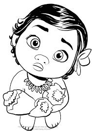 Disegno Di Vaiana Bambina Con Disegni Da Colorare Disney Oceania E