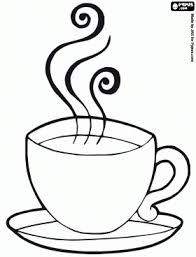 Hot Chocolate Mug Coloring Page Breakfast Coloring Pages Coloring