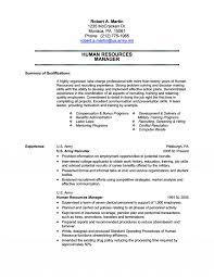 Military Resumes 17 Human Resources Transition Resume