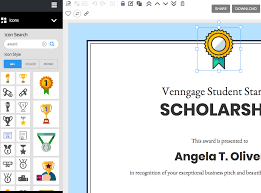 Making A Certificate Venngage The Online Certificate Maker