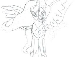 My Little Pony Coloring Pages Princess Celestia And Luna My Little
