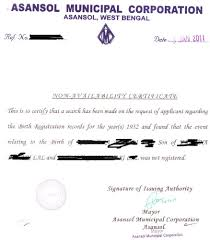 Non Availability Of Birth Certificate Allied Legal India New