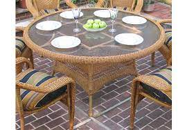resin wicker dining table 60 round