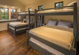 custom bunk beds perpendicular cape cod twin over king over queen