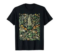 Flower Chart T Shirt Vintage Inspired Flower Botanical Chart T Shirt