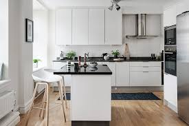 Black And White Themed Scandinavian Apartment With Modern Dream Amazing Kitchen Apartment Design
