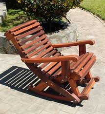 cozy outdoor wooden rocking chairs