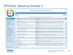 EPICenter: Data Management Tool Geers, Dorothea Page 1 EPICenter E&P Data  Management RWE Dea AG Geo Support Center Hamburg - Germany Dorothea Geers  Geoscience. - ppt download