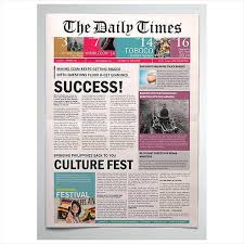 Creative Newspaper Template Roman Report Updrill Co