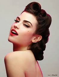 love retro pinup rockabilly hair styleakeup i can get the makeup down but never make up