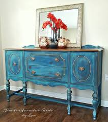 diy furniture makeovers. Blended Blue Buffet Diy Furniture Makeovers