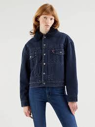 <b>New Heritage Sherpa</b> Trucker Jacket - Dark Indigo | <b>Levi's</b>® CH