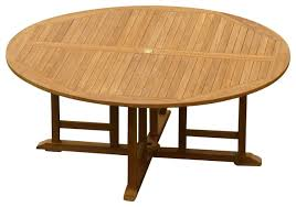 gorgeous teak round dining table of 72 outdoor contemporary home in gorgeous teak round dining table