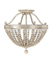 capital lighting  adele  inch wide semi flush mount