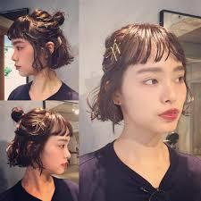 ヘアアレンジヘアスタイル Karen ウェット ピンアレンジ ハーフアップ