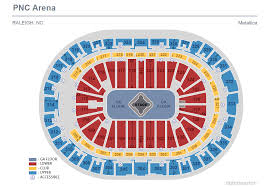 Metallica Seating Chart Metallica Pnc Arena