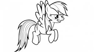 Small Picture Rainbow Dash Coloring Picture Coloring Pages For Kids And For
