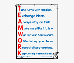 Teamwork Acrostic Poem Anchor Chart Acrostic Poems For