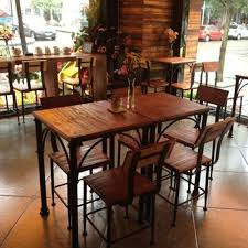 wood and wrought iron furniture. american country wood dining tables and chairs wrought iron fast food restaurant furniture t