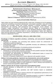 Contract Specialist Resume Example Examples Of Resumes