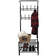 Coat Rack With Storage Baskets Amazon Sorbus Coat Shoe Racks Bench Hallway Entryway Coat 100