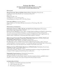Legal Resume Templates Awesome Legal Resume Nick Kline