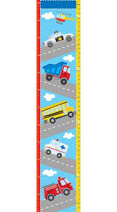 Wallpops Transportation Growth Chart Decal 16 In X 19 5 In