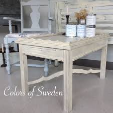 Lime Wash Coffee Table Painted Table Swedish Style Paintcolorsofsweden