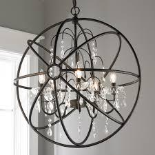 glass orb lighting. Crystal And Metal Orb Chandelier Crystal_bronze Glass Lighting O