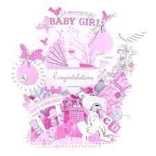 Newborn Congratulation Card New Born Baby Card Laser Cut Handmade Cartoon Newborn Baby Boy Girl
