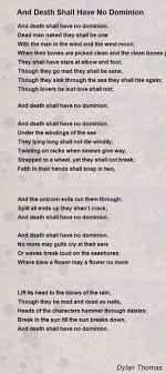 And Death Shall Have No Dominion Poem by Dylan Thomas Poem Hunter