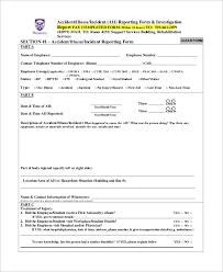Accident Incident Report Form Template Socialrovr Com