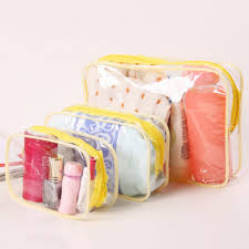 <b>Waterproof PVC Cosmetic</b> Storage Zipper Bag Women Transparent ...