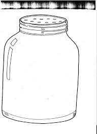 bug jar coloring sheet firefly template printable monster images of craft for preschoolers