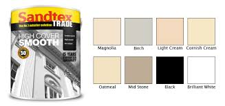 Sandtex Paint Chart S G Bailey Paints Ltd Sandtex High Cover Smooth Masonry