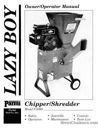 chipper shredder manuals