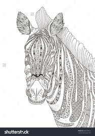 Small Picture Coloring Pages Of Zebras Zebra At The Meadow Coloring Page With
